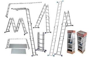Escada Multifuncional 4x4, Com Plataforma 16 Degraus - Mor