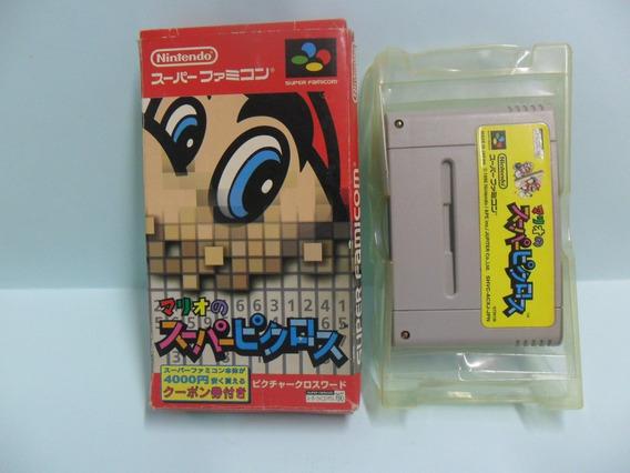 Mario No Super Picross - Original - Caixa E Berço