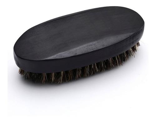 Imagen 1 de 7 de Zilveren Man ® Robusto Cepillo Para Barba Y Bigote 11 Cms Cerda Genuina 1000% Pelo Jabali Mango De Madera Negro Mate