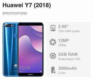 Smartphone Huawei Y7 (2018)