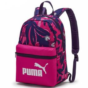 Mochila Infantil Puma Phase - Rosa E Roxo - Original
