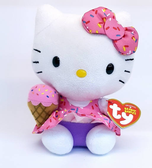 Pelúcia Hello Kitty - Sanrio - Dtc 15cm Coleção Hellokitty