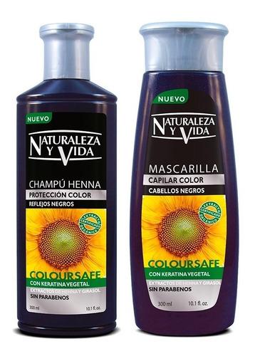 Shampoo Mascarilla Kit Negro Naturaleza Y Vida 300 Ml