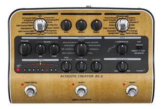 Zoom Ac3 Pedalera Multiefecto Guitarra Acustica Delay Echo