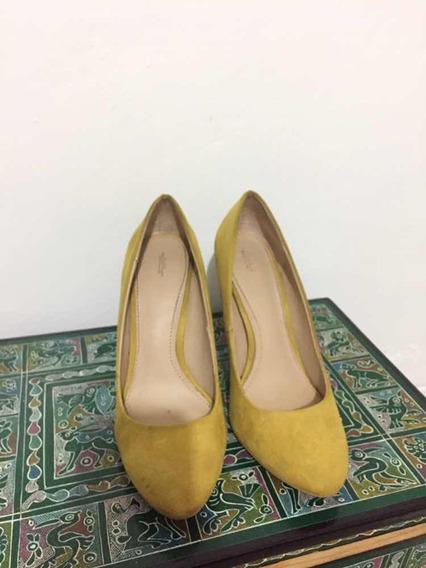 Zapatillas Zara Amarillas 38 O 5