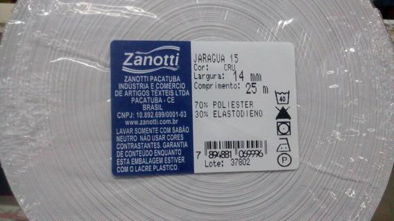 Elastico Zanotti Jaraguá 15 - 14mm, Rolo 25 Mts, Cor Branco