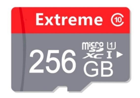 Cartão De Memória 256 Gb Microsd Com Adaptador