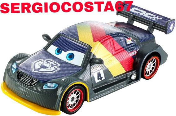 Disney Cars Carros 2 Max Schnell Carbon Racer Loose Sem Emb
