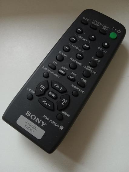 Controle Remoto System Audio Sony Rm-sr200 Original