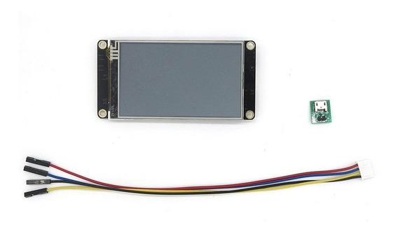 Tela Lcd Nextion 3.2 Enhanced 400x240 Touch Rtc Com Moldura