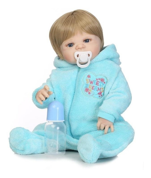 Bebe Reborn Menino 55cm Silicone Pronta Entrega D552
