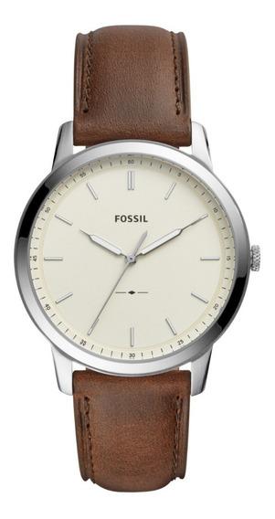 Reloj Caballero Fossil Fs5439 Color Café De Piel