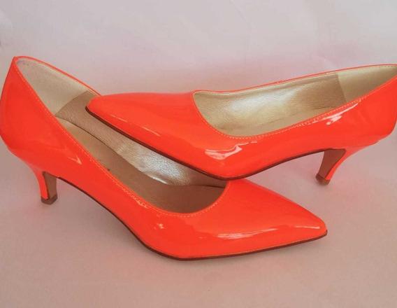 Zapato Stiletto Mujer Naranja