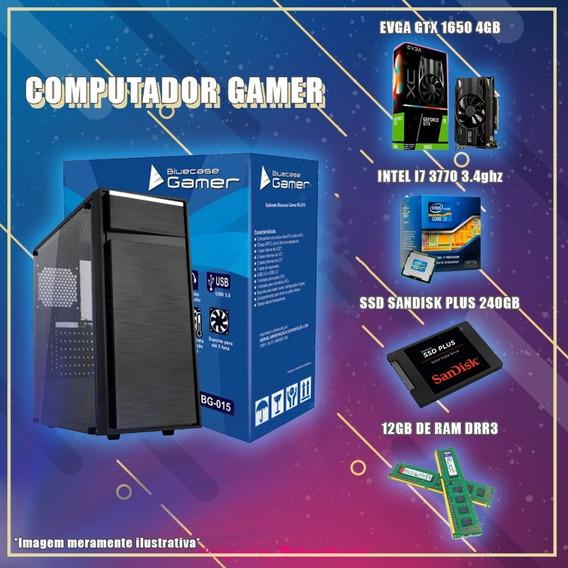 Pc Gamer Gtx 1650 4gb, Intel I7, 12gb De Ram, Ssd 240gb