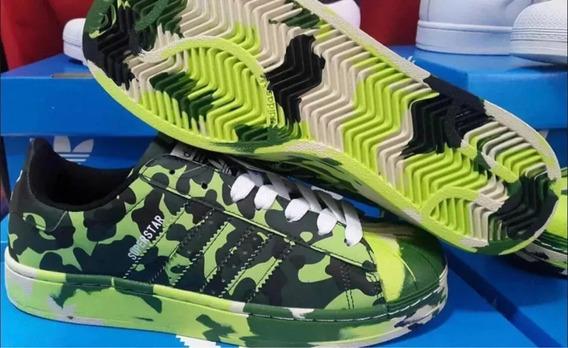Zapatillas Superstar Hombre Camufladas Unicas Impportadas