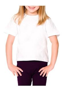 20 Camisetas Infantis Brancas 100% Algodão 2/4/6/8 Anos