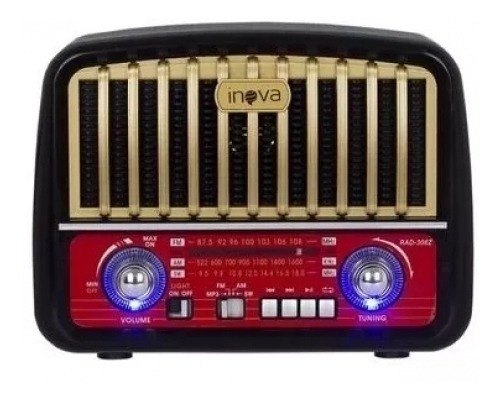 Caixa De Som Retro Radio/usb/inova - Rad-8394 - Ra