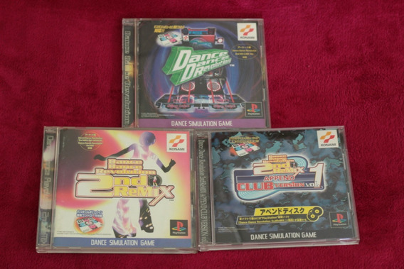 Lote 3 Jogos Dance Dance Revolution Originais Playstation 1
