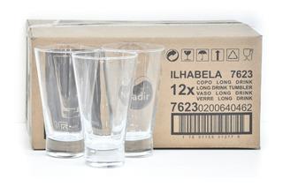 Set Juego De 12 Vasos Ilhabela 7623 Trago Largo 400ml