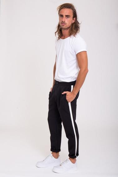 Pantalon Hombre De Vestir Chupin Suelto Black&white