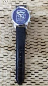 Lindo Relógio, Puls. Preta, Visor Fundo Azul, Cod. 00378