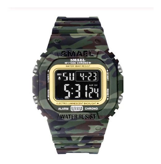 Relógio Smael Original Masculino Verde Militar - Em Promoção
