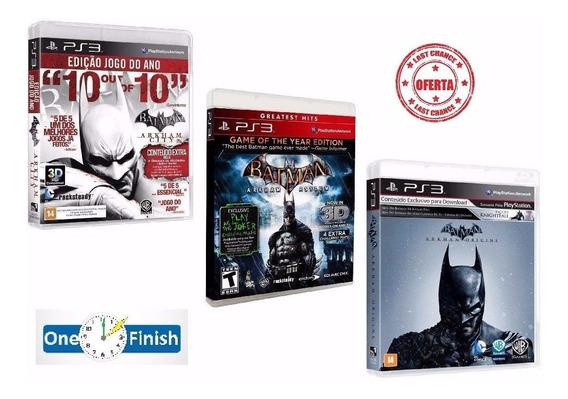 Batman Arkham City + Arkham Asylum + Arkham Origins - Ps3