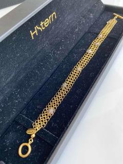 Pulseira Hstern Ouro Amarelo 18,5 Cm 7 Stars Em Diamante