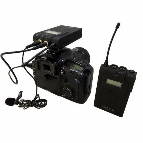 Microfone S/ Fio Para Câmeras Dslr Boya Wm6