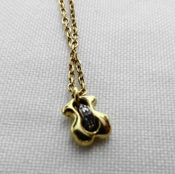 Collar Silueta Oro Con Diamantes Tous 750
