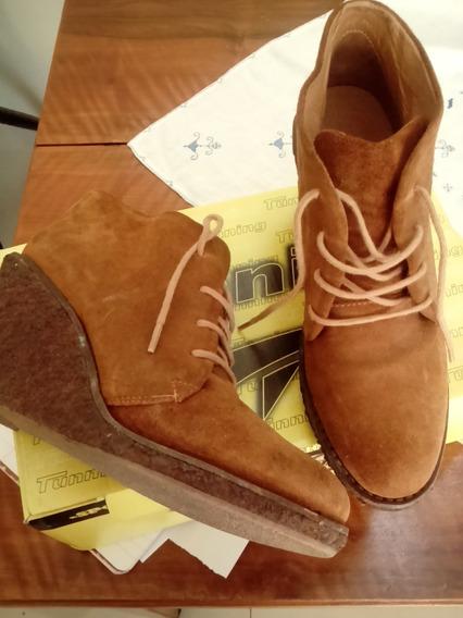 Zapatos Tipo Borcegos Marrones T 36/37
