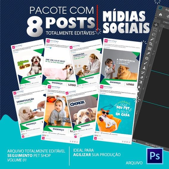 Post Para Redes Sociais Editável - Pet Shop - Vol. 02