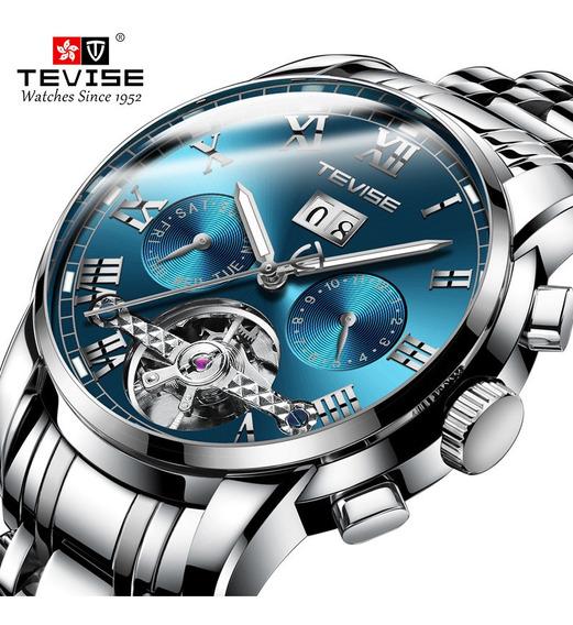 Relógio De Pulso Mecânico Automático Para Homem Azul