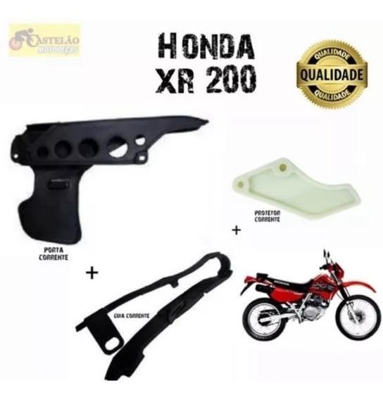 Porta Corrente Xr 200 + Protetor Corrente + Guia Corrente