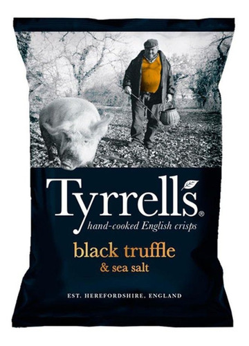 Batata Frita Tyrrell's Trufa Negra E Sal Marinho 150g