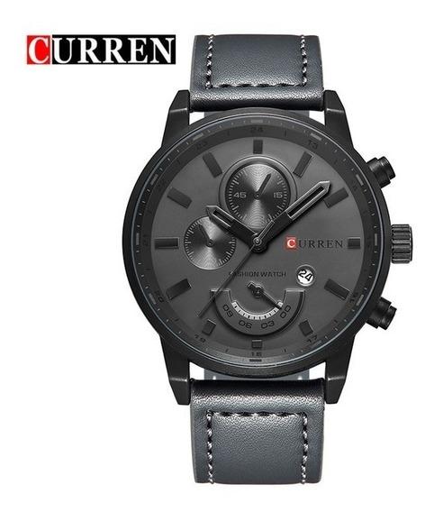 Relógio Curren Masculino Pulseira De Couro 8217