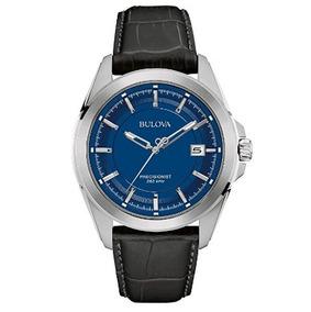Relógio Bulova Masculino Precisionist Azul/preto/couro Origi