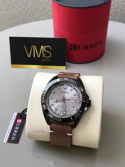 Relógio Masculino Curren Analógico 8272 - Preto E Marrom
