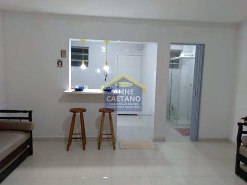 Kitnet Com 1 Dorm, Guilhermina, Praia Grande - R$ 165 Mil, Cod: Act1463 - Vact1463