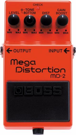 Pedal Distorção Boss Md-2 Mega Distortion Efeito Guitarra