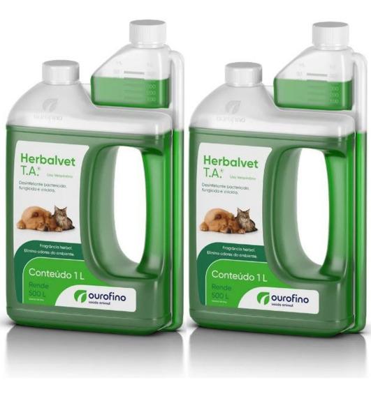 Desinfetante Para Canil Herbalvet T.a Ouro Fino - 2 Litros