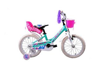 Bicicleta Slp Dolphin Bmx Rodado 16 Niña Porta Muñeca Canast