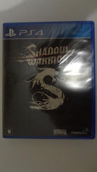 Shadow Warrior Ps4 - Mídia Física - Novo E Lacrado
