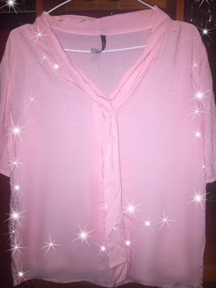 Camiseta Rosa Suelta Fresca Lazo Moda Temporada Verano