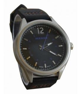 Reloj Hombre Mango 1518 - Cuero - Metal - Con Estuche