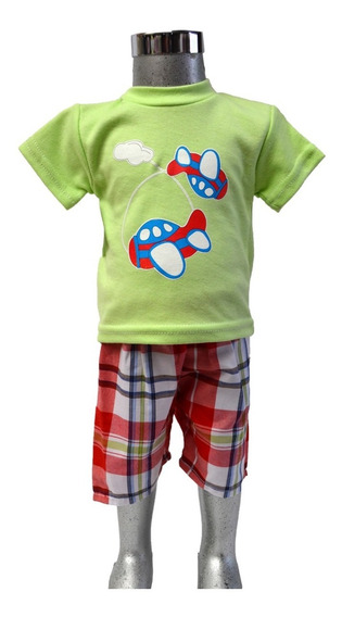 Ropa Bebé Niño Conjunto 2 Piezas Moda Infantil Short Playera
