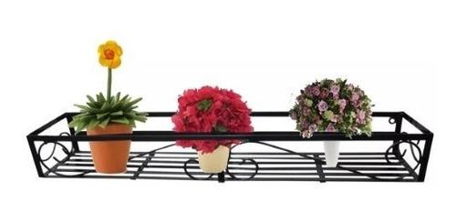 Imagem 1 de 1 de Floreira De Janelas Em Ferro Vasos Flores Folhagens Plantas
