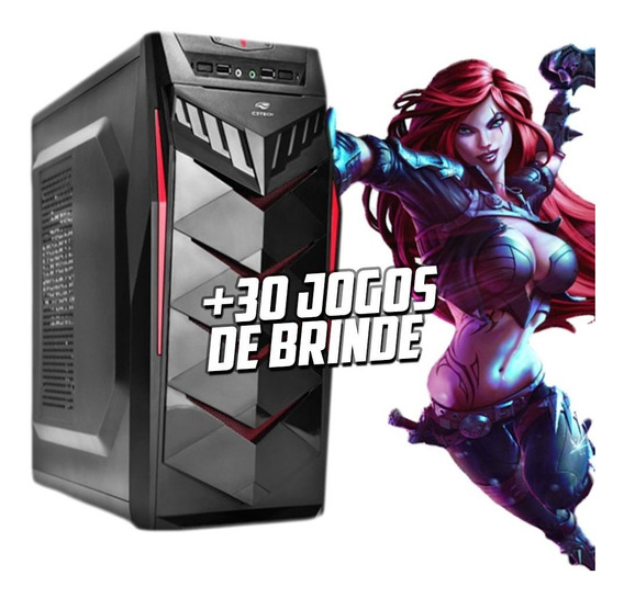 Cpu Gamer Imperiums I3 9100f Hd 1tb Rx 550 +30 Jogos Rtw G2