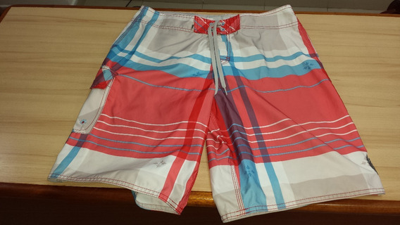 Short Playero Traje Baño Quicksilver Talla 34 Original Usado