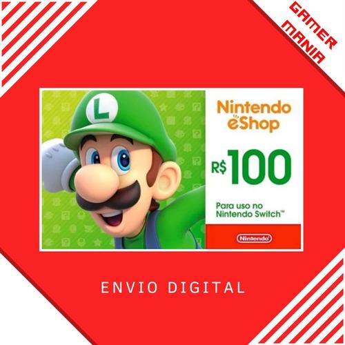 Nintendo R$100 Gift Card Digital - Br